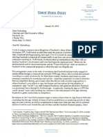 Letter to Zuckerberg 01 30 2019
