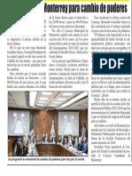 30-01-19 Están listos en Monterrey para cambio de poderes