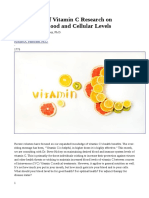 The Science of Vitamin C Research on Optimizing Blood and Cellular Levels