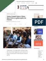 23.01.19 Visita Ciudad Juárez Ulises Ruiz Ortiz ex gobernador de Oaxaca