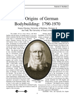 The Origins of German Bodybuilding- 1790-1970