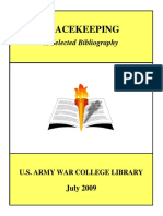 PEACEKEEPING a Selected Bibliography 2009