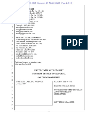 JUUL Labs, Inc  Class Action Complaint - January 30, 2019