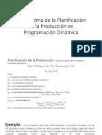 El Problema de La Planificación de La Producción e Inventario en Programación Dinámica