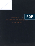Ceremony For Draping Of Charter I.O.O.F.