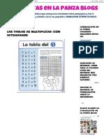 Cosquillitas en La Panza Blogs_ Las Tablas de Multiplicar (Con Actividades)