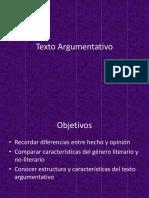 Ppt Texto Argumentativo Contexto Producción