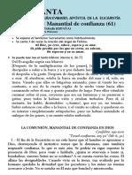 HORA SANTA Con San Pedro Julián Eymard. La Comunión, Manatial de Confianza (61)