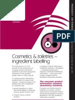 Cosmetic Labeling ACCC Australia