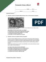 Formacion Civica y Etica 6 Evaluacion Trimestre 2 Alumno