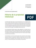 Evolicion Historica de La Propiedad Intelectual 2018