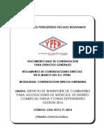 TRANSPORTE DE COMBUSTIBLES PARA LAS ESTACIONES DE SERVICIOS  DE DISTRITO COMERCIAL TARIJA Y ZONAS DEPENDIENTES GESTION 2016.docx