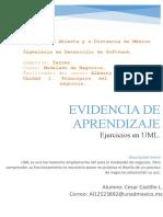 U1. Principios Del Modelado de Negocios. Evidencia de Aprendizaje. Ejercicios en UML.