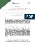 I Coloquio de Hagiografía Tardoantigua, Medieval y Moderna - Perspectivas Hagiográficas Desde Latinoamérica