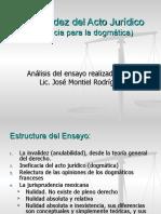 Derecho Civil (Acto Jurídico) - Ineficacia - Invalidez 02
