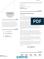 CoverLetter Typographic Resume Vol 1 A4