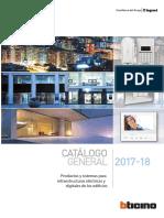 Catálogo Bticino 2017 2018