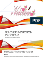 Teacher Induction Program (Module 2- The Filipino Teacher)