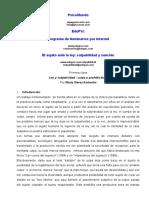 eL SUJETO ANTE LA LAY CLASE1