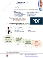 Le Pronom y Exercice Grammatical Feuille Dexercices Guide Gram