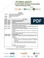AGENDA Foro Turismo Maquita y CAF WEB
