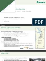 Amtrak Cascades Update