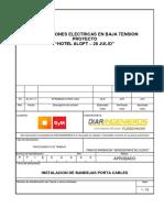 Procedimientos de Instalacion de Bandejas Portacables - Rev 01