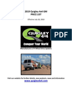 2019 Quigley 4WD GM Retail Price List Final