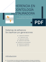 Adherencia en Odontología Restauradora