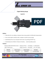 dIGITAL wELDING gAUGE SPECIFICATION
