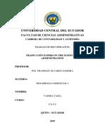 Notas Sobre La Teoría de La Organización Traduccion