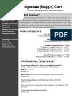 sleek gray - teacher resume and cover letter