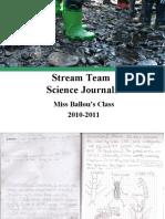 Stream Team Science Journals