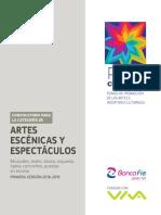Convocatoria Artes Escenicas