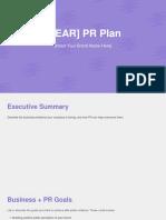 PR Plan Template 1