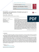 Formulation and Optimization of Involute Spur Gear in External Gear Pump