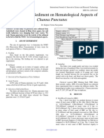 Impact of Toxic Sediment on Hematological Aspects of Channa Punctatus