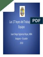 17 LEYES DEL TRABAJO EN EQUIPO
