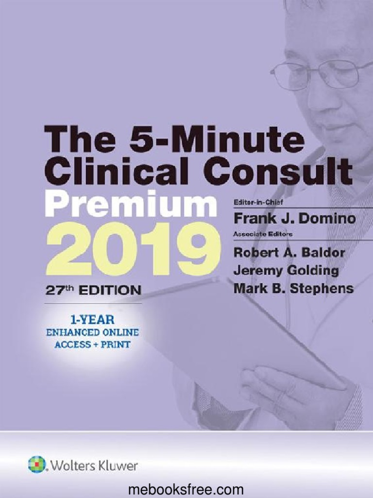 The 5-Minute Clinical Consult 2019 – 27th Edition