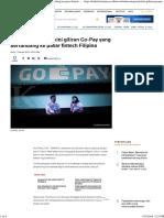 Belum Menyerah, Kini Giliran Go-Pay Yang Bertandang Ke Pasar Fintech Filipina
