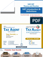 Chapter 1 - UAE VAT Laws and Procedures Course