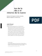 Julio Premat Los Relatos de La Vanguardia o el retorno de lo nuevo