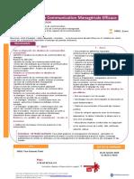 Développer Une Communication Managériale Efficace-IIFE 2019