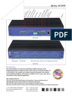 Sentry 4412HV Datasheet