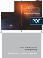 CMFR Philippine Press Freedom Report 2007