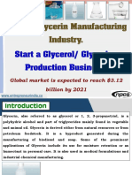 Natural Glycerin Manufacturing Industry