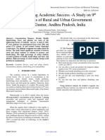 Factors Affecting Academic Success -A Study on 9th Class Students of Rural and Urban Government Schools, Guntur, Andhra Pradesh, India