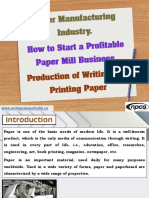 Paper Manufacturing Industry