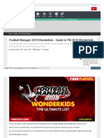Www Fmscout Com a Football Manager 2018 Wonderkids HTML