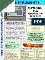 Spesifikasi Alat Geolistrik Syscal Pro